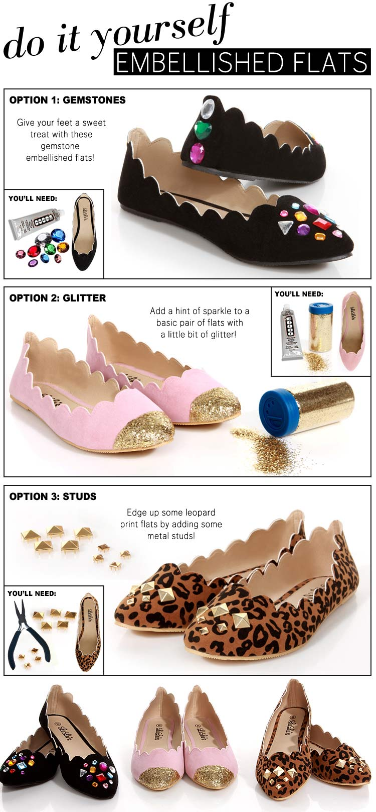 Flats with Glitter
