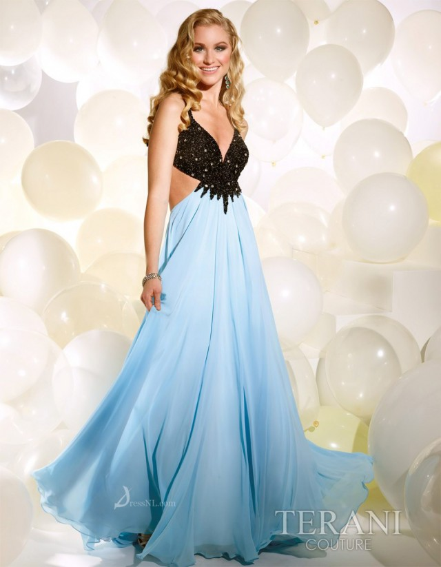 Floor-length Blue Dress