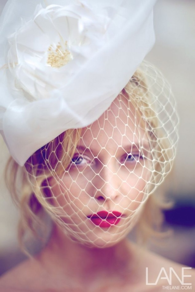 Floral Bride Hairstyle With Veil via