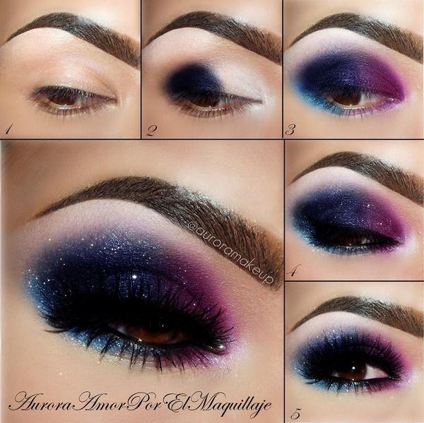 Galaxy Stars Eye Makeup