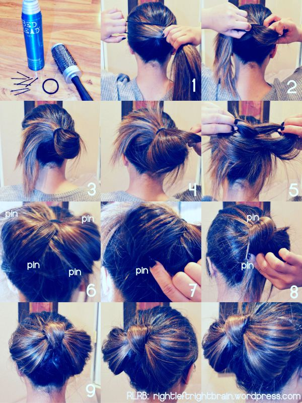 how to use your hair as a hair tie