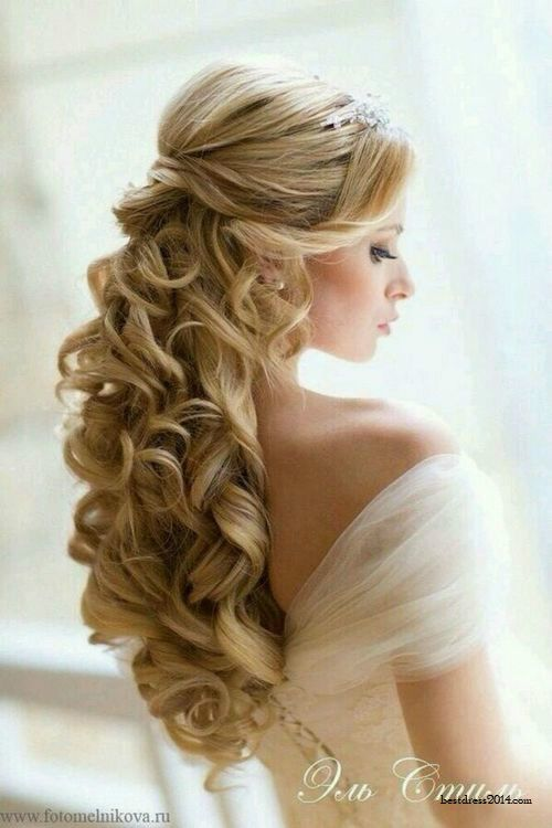 half up half down wedding hairstyle via