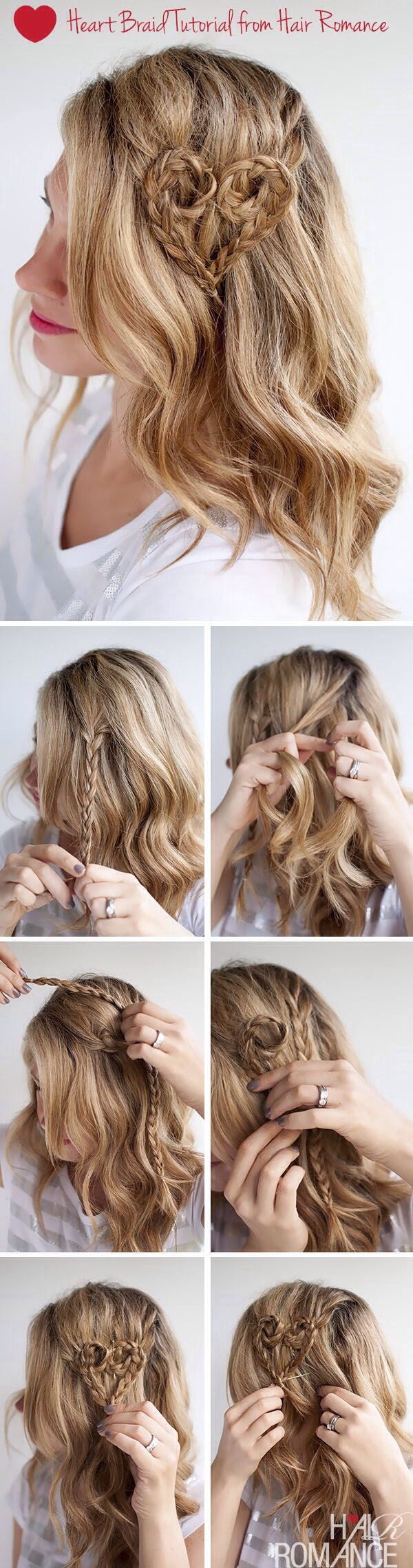 Heart Braided Hairstyle Tutorial