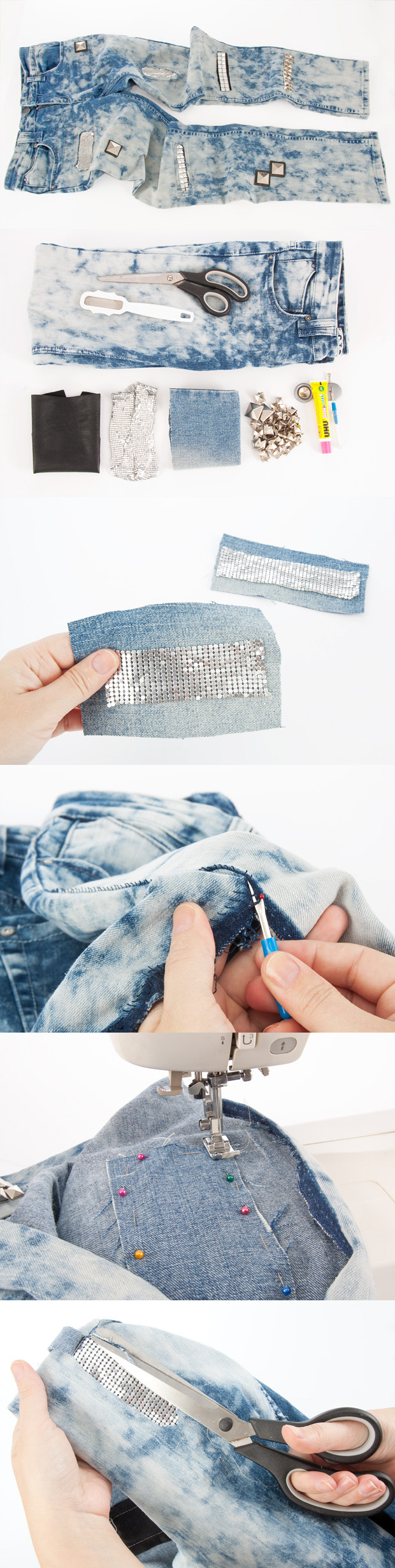Jeans with Glitter