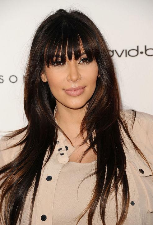Kim Kardashian's Full Bangs