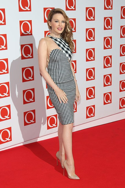 Kylie Minogue Gingham Style/Elle