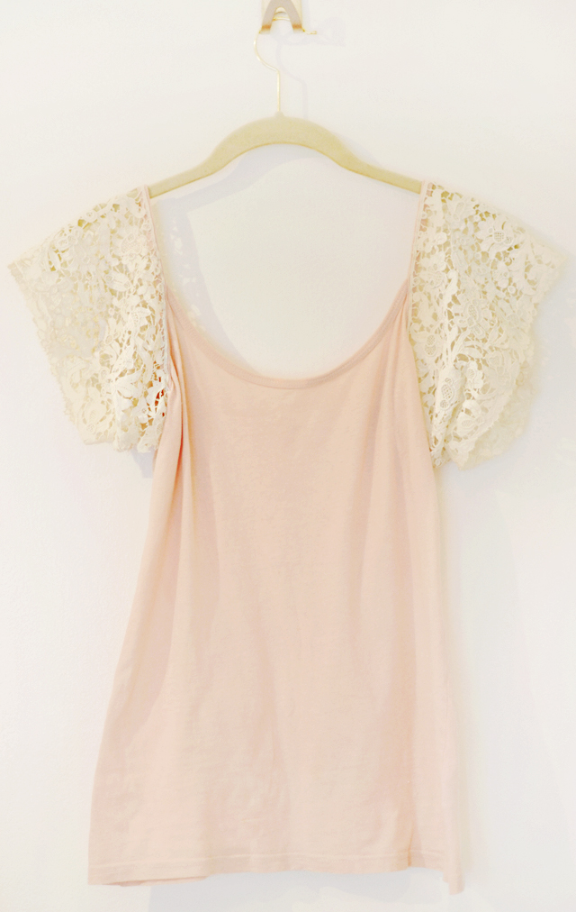 Lace Sleeve Tank Top