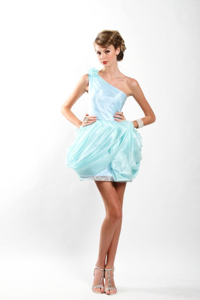 Light Blue Bubble Dress