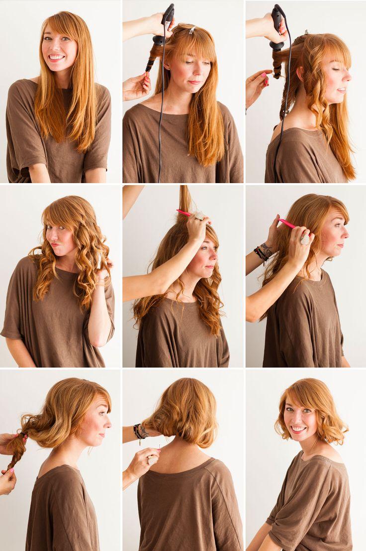 Как сделать прическа каре из длинных волос без стрижки