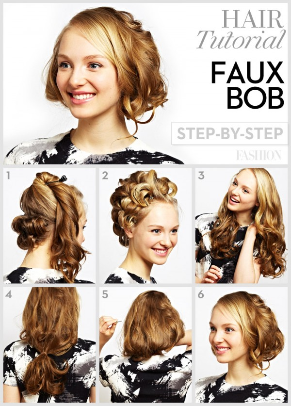 Hairstyles For Short Hair And How To Do It : Long Hair to Short Bob via