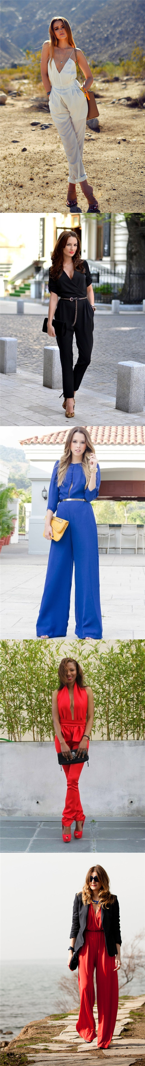 Long Jumpsuit Outfit Ideas