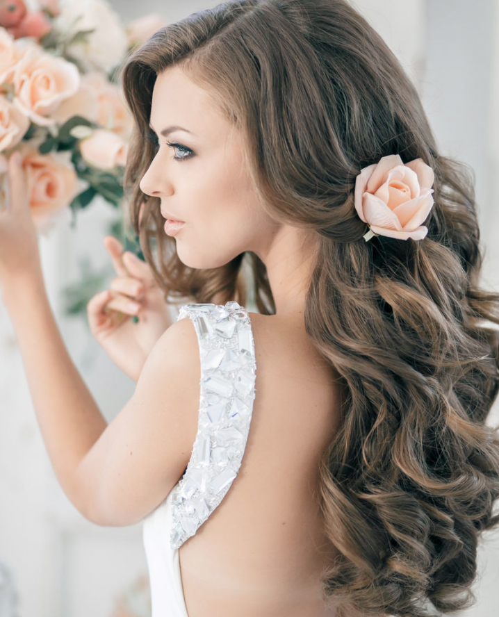 Long Wavy Wedding Hairstyle