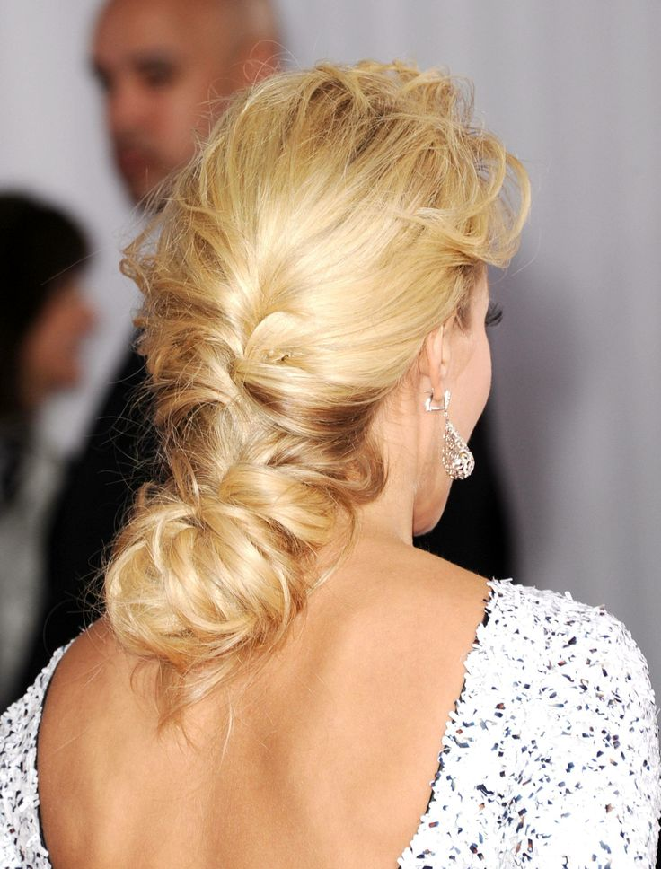Loose Braided Hairstyle for Prom