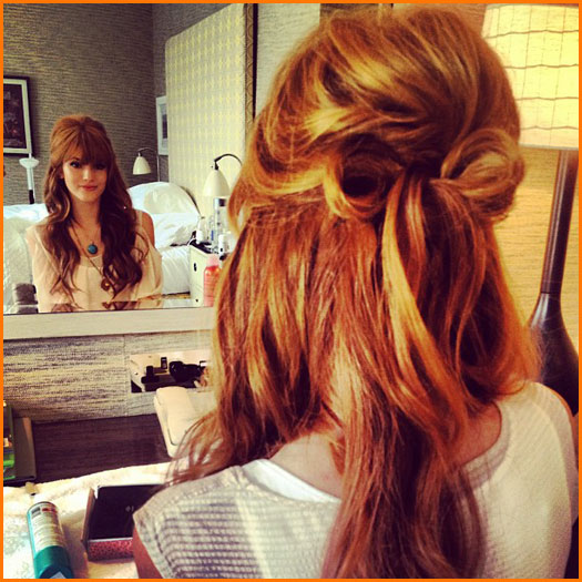 Half Up Half Down Bow Hairstyle via