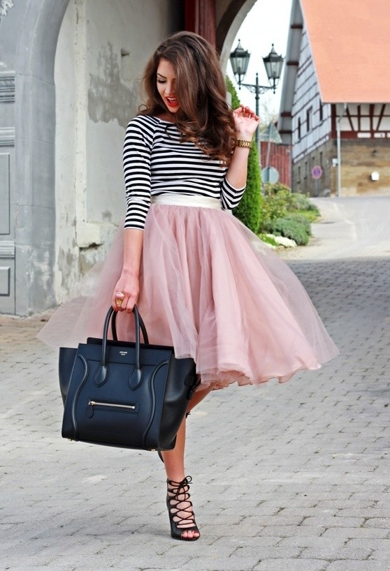 Midi Tulle Skirt Outfit