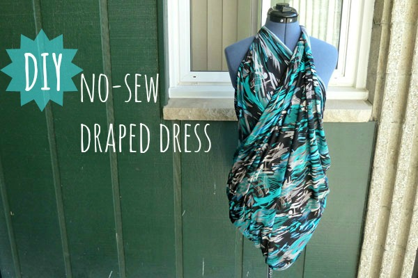 No Sew Draped Dress