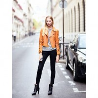 Orange Moto Jacket for Spring