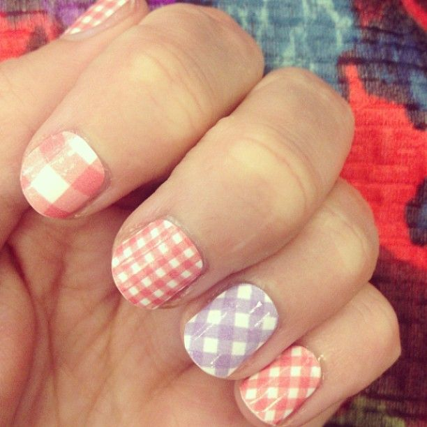 Nails To Have Gingham Nail Designs Pretty Designs