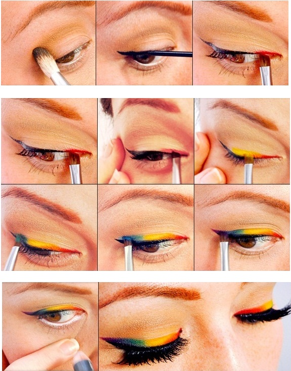 Perfect Rainbow Makeup Tutorial
