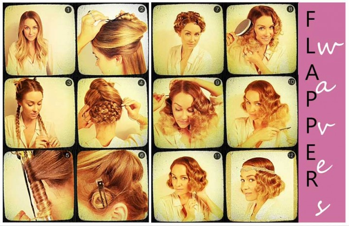 Pin Curls Flapper Hairstyle Tutorial