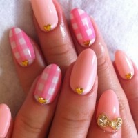Pink and White Nails