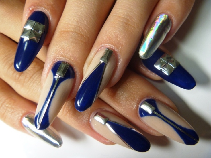 20 minx nail designs you wont miss pretty designs pointy nails prinsesfo Choice Image