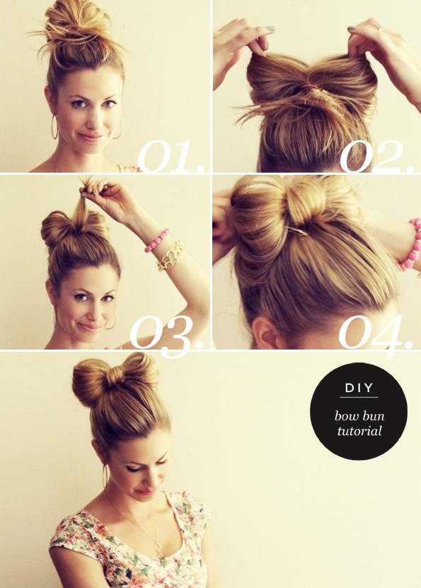 Fine 13 Hair Tutorials For Bow Hairstyles Pretty Designs Short Hairstyles Gunalazisus
