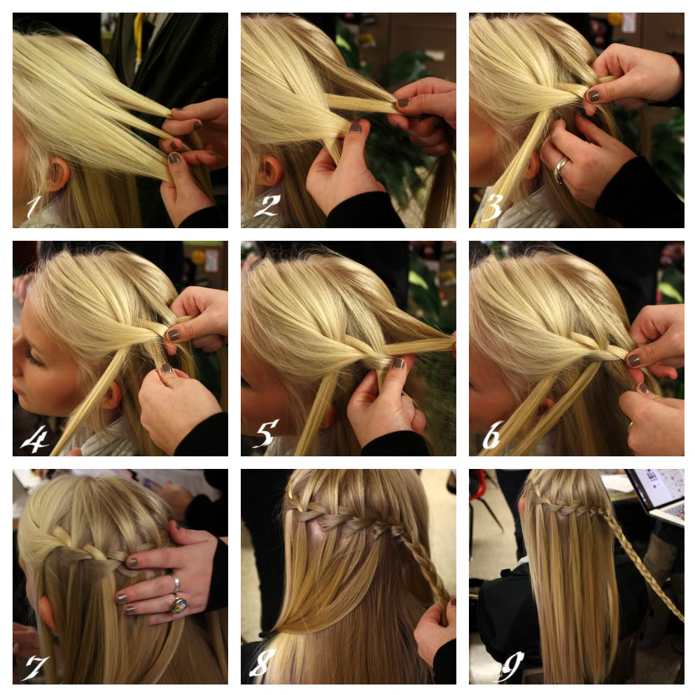 How to make a beautiful waterfall braid waterfall braid tutorials pretty waterfall braid ccuart Image collections