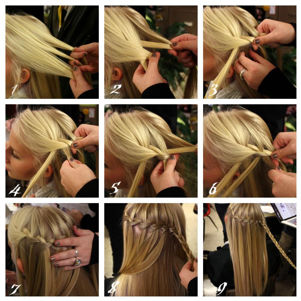 прически косички на волосах водопад