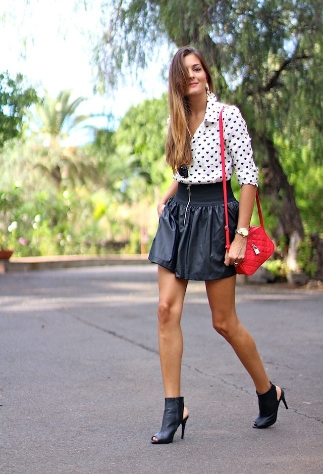 Printed Blouse Outfit