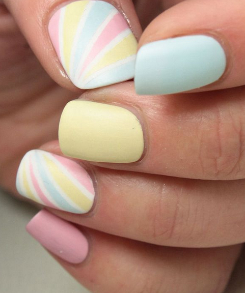 Kbshimmer Spring 2014 Chevron Dot Nail Art Easter Design: Designs To Try: Delicate Nail Arts For This Weekend