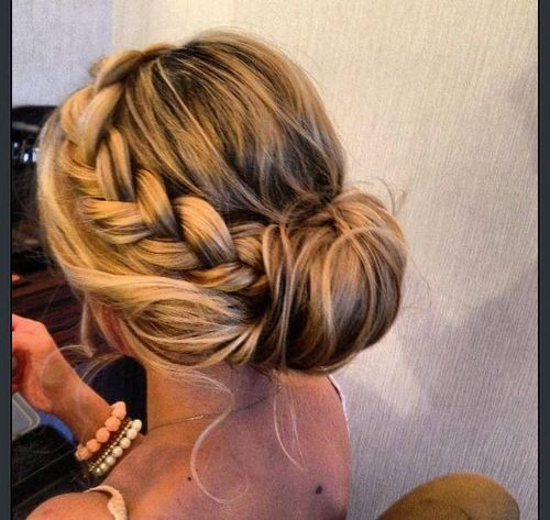 Romantic Braided Updo Hairstyle