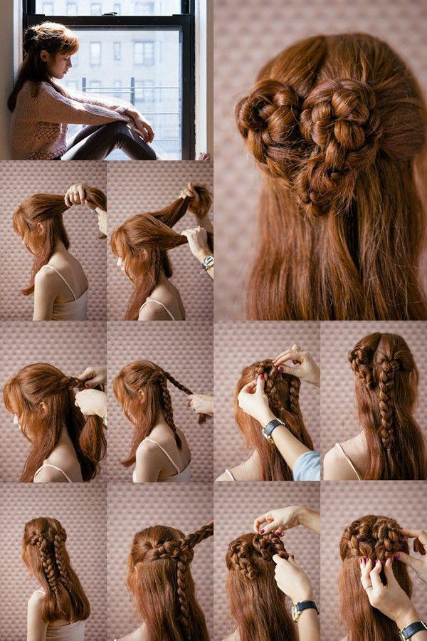 Romantic Heart Braided Updo Hairstyle Tutorial
