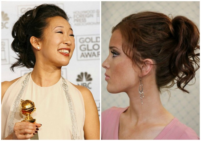 Sandra Oh – Waterfall Ponytail