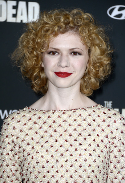 Short Curls for Round Face Shape
