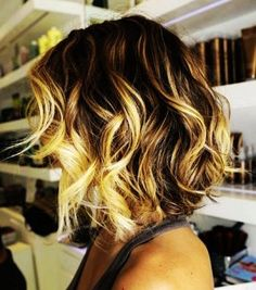 Short Curls with Golden Highlights