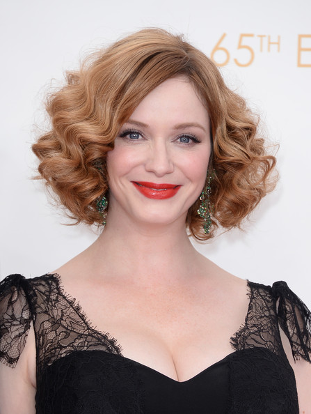 Short Curls with a Deep Side Part