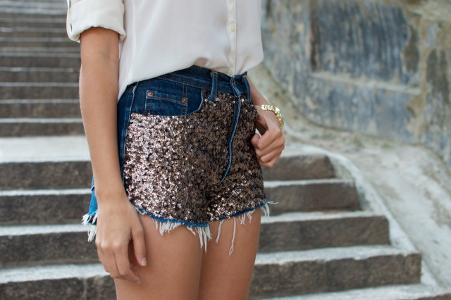 Shorts with Sequins