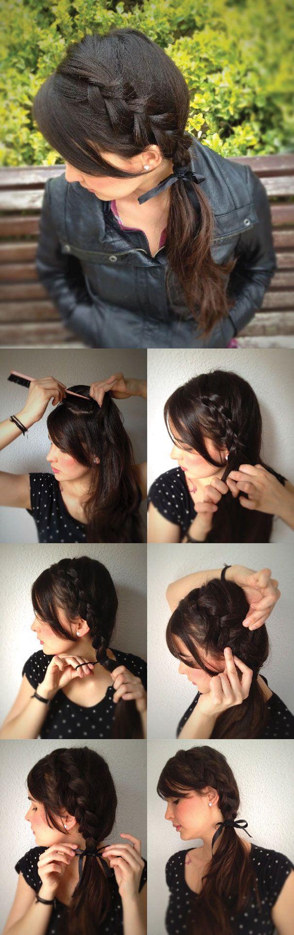 Косы на коротких волосах себе своими руками 4