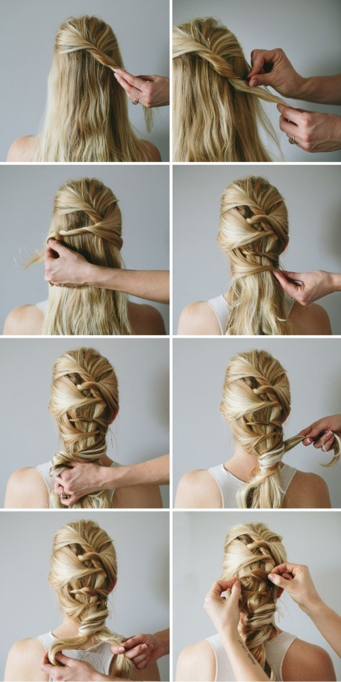 15 Simple and Easy Hairstyles With Useful Tutorials - Pretty Designs