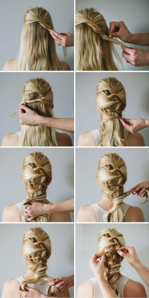 Simple Bridal Hairstyle via