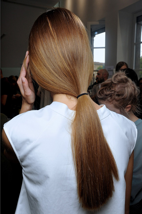 Sleek Pony Hairstyle Trend