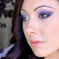 Purple Smokey Eyes via
