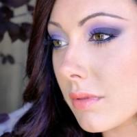 Purple Smokey Eyes via