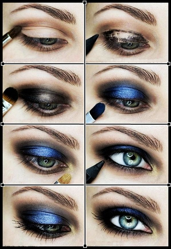 2014 stylish collections in blue makeups hairstyles - Smoky eyes tuto ...