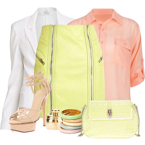 Spring Polyvore Combinations in Baby Pink: Youthful Look