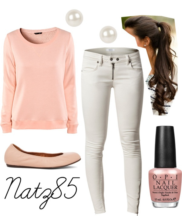 Spring Polyvore Combinations in Baby Pink: Next-door Girl