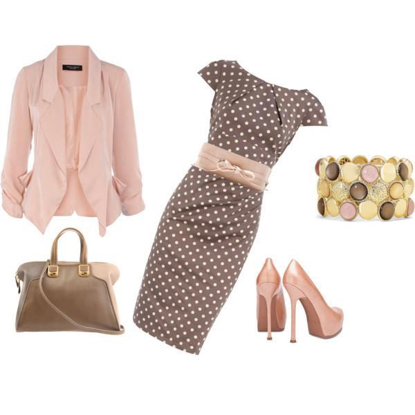 Spring Polyvore Combinations in Baby Pink: Polka Dot
