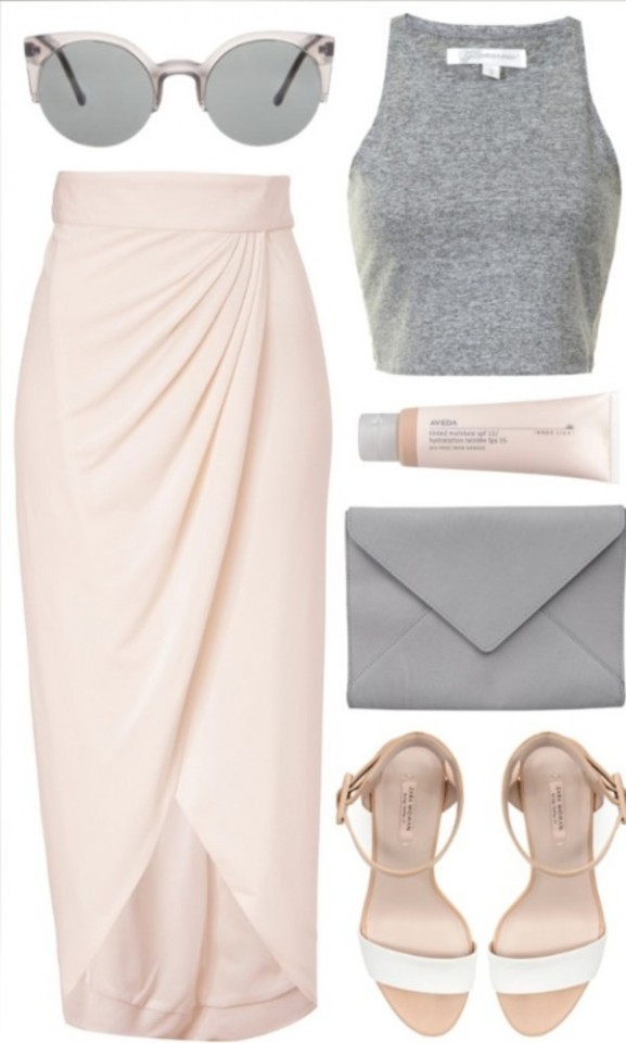 Spring Polyvore Combinations In Baby Pink Faddish Women Via