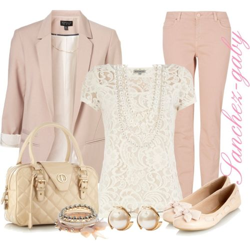 Spring Polyvore Combinations in Baby Pink: Cool Everyday Look